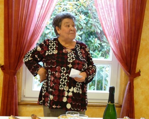 Danièle, la présidente de l'association Calk Repas du 8 novembre 2017